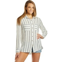 Billabong Easy Movin Long Sleeve Shirt - Salt Crystal Medium Cotton - Swimoutlet.com