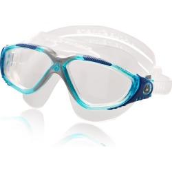 Aqua Sphere Vista Mask - Clear/Aqua Synthetic/Rubber - Swimoutlet.com