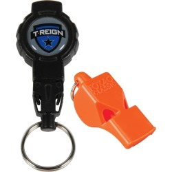 Fox 40 Classic Lifeguard Whistle W/ Retractable Lanyard - Orange Plastic - Swimoutlet.com