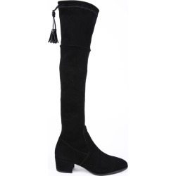 Henry Beguelin Black Suede Over the Knee Boots Black SZ: 9.5 found on MODAPINS from Luxury Garage Sale for USD $444.00
