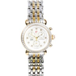 Michele CSX Diamond Watch Silver/Gold SZ: found on MODAPINS from Luxury Garage Sale for USD $995.00