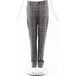 Kiton Plaid Wool Straight Leg Pants Gray SZ: L found on MODAPINS from Luxury Garage Sale for USD $395.00