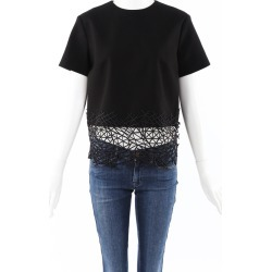 Christopher Kane Barbed Lace Wool Top Black SZ: M found on MODAPINS from Luxury Garage Sale for USD $255.00