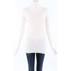Dusan Cashmere Silk Knit Top White SZ: M found on MODAPINS from Luxury Garage Sale for USD $270.00