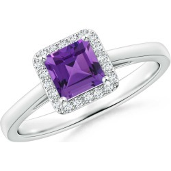 Classic Square Amethyst Halo Ring found on Bargain Bro Philippines from Angara Jewelry for $969.00