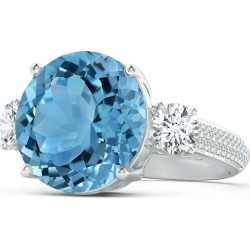 GIA Certified Round Sky Blue Topaz Three Stone Ring found on Bargain Bro India from Angara Jewelry for $10399.00