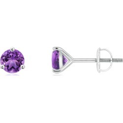 Martini-Set Round Amethyst Stud Earrings found on Bargain Bro India from Angara Jewelry for $229.00