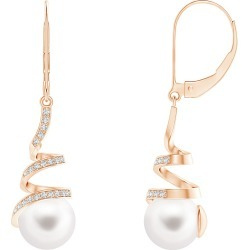 Freshwater Pearl Spiral Ribbon Drop Earrings found on Bargain Bro Philippines from Angara Jewelry for $739.00