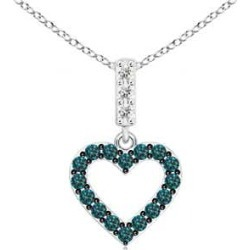 Open Heart Blue Diamond Pendant found on Bargain Bro from Angara Jewelry for USD $675.64