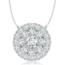 Double Halo Diamond Pendant found on MODAPINS from Angara Jewelry for USD $1259.00