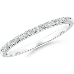 Fishtail Set Diamond Semi Eternity Wedding Band for Her found on Bargain Bro India from Angara Jewelry for $1219.00