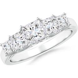 Graduated Princess-Cut Trellis Diamond Five Stone Band found on Bargain Bro from Angara Jewelry for USD $3,662.44