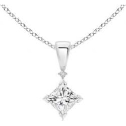 Princess-Cut Diamond Pendant found on MODAPINS from Angara Jewelry for USD $1619.00