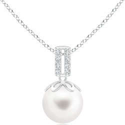 Freshwater Pearl Pendant with Diamond Bar Bale found on Bargain Bro India from Angara Jewelry for $179.00
