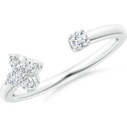 Diamond Stackable Floral Open Ring found on Bargain Bro India from Angara Jewelry for $1699.00