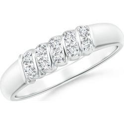 Slanted Bar-Set Diamond Ten Stone Wedding Band found on Bargain Bro India from Angara Jewelry for $1569.00