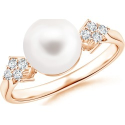Freshwater Cultured Pearl Ring with Cluster Diamond Accents found on Bargain Bro Philippines from Angara Jewelry for $499.00