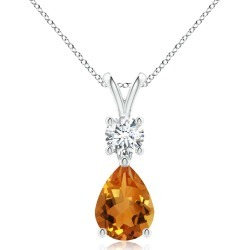 Pear-Shaped Citrine V-Bale Pendant found on MODAPINS from Angara Jewelry for USD $979.00