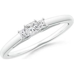 Princess-Cut Diamond Trellis Three Stone Ring found on Bargain Bro from Angara Jewelry for USD $827.64