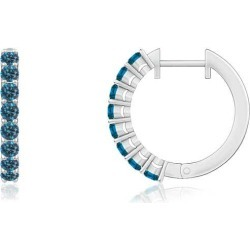 Airline-Set Blue Diamond Hinged Hoop Earrings found on Bargain Bro from Angara Jewelry for USD $516.04