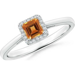 Classic Square Citrine Halo Ring found on Bargain Bro Philippines from Angara Jewelry for $1179.00