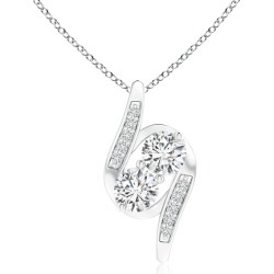 Double Diamond Bypass Pendant found on MODAPINS from Angara Jewelry for USD $1759.00