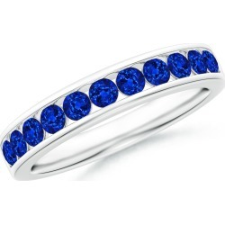 Channel Set Half Eternity Sapphire Wedding Band found on Bargain Bro India from Angara Jewelry for $1329.00