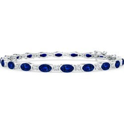 Semi Bezel-Set Oval Sapphire and Diamond Tennis Bracelet found on Bargain Bro Philippines from Angara Jewelry for $8239.00