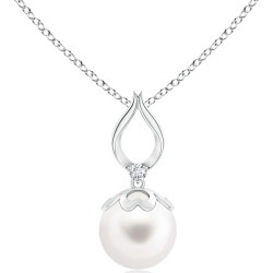 Freshwater Pearl Pendant with Ribbon Bale found on Bargain Bro India from Angara Jewelry for $139.00
