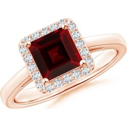 Classic Square Garnet Halo Ring found on Bargain Bro Philippines from Angara Jewelry for $999.00