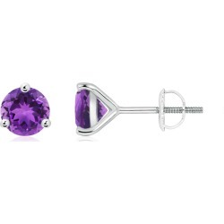 Martini-Set Round Amethyst Stud Earrings found on Bargain Bro India from Angara Jewelry for $669.00