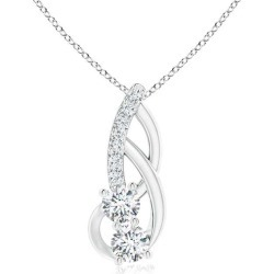 Double Diamond Loop Pendant found on MODAPINS from Angara Jewelry for USD $1339.00