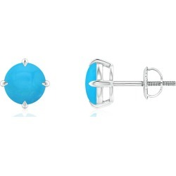 Basket-Set Round Turquoise Stud Earrings found on Bargain Bro India from Angara Jewelry for $829.00