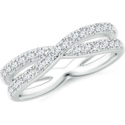 Diamond Crossover Wedding Band found on Bargain Bro Philippines from Angara Jewelry for $2959.00