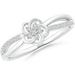 Round Cluster Diamond Daisy Flower Ring