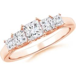 Graduated Princess-Cut Trellis Diamond Five Stone Band found on Bargain Bro from Angara Jewelry for USD $2,051.24