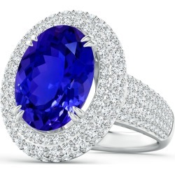 GIA Certified Oval Tanzanite and Diamond Triple Halo Ring found on Bargain Bro Philippines from Angara Jewelry for $17359.00