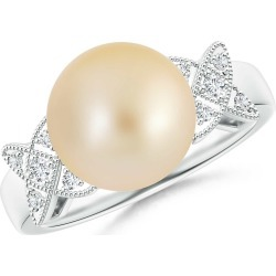 Golden South Sea Cultured Pearl XO Ring