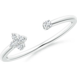 Diamond Stackable Floral Open Ring found on Bargain Bro India from Angara Jewelry for $999.00
