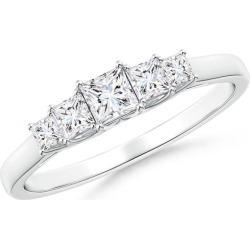 Graduated Princess-Cut Trellis Diamond Five Stone Band found on Bargain Bro from Angara Jewelry for USD $1,238.04