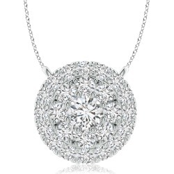 Double Halo Diamond Pendant found on MODAPINS from Angara Jewelry for USD $889.00