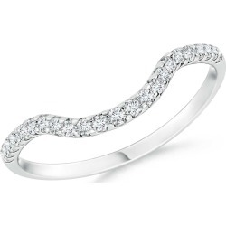 Prong Set Diamond Curved Wedding Band for Women found on Bargain Bro India from Angara Jewelry for $1169.00