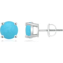 Basket-Set Round Turquoise Studs found on Bargain Bro Philippines from Angara Jewelry for $1019.00