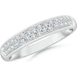Half Eternity Pave Set Two Row Diamond Wedding Band found on Bargain Bro India from Angara Jewelry for $1069.00