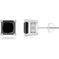 Princess-Cut Enhanced Black Diamond Solitaire Stud Earrings found on Bargain Bro Philippines from Angara Jewelry for $2089.00