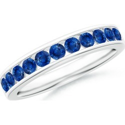 Channel Set Half Eternity Sapphire Wedding Band found on Bargain Bro India from Angara Jewelry for $1869.00