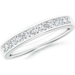 Channel Set Half Eternity Diamond Wedding Band found on Bargain Bro India from Angara Jewelry for $2459.00