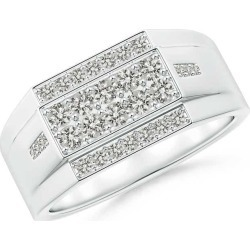 Rectangular Composite Diamond Convex Men's Ring found on MODAPINS from Angara Jewelry for USD $1719.00