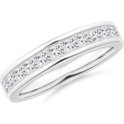 Channel Set Princess Diamond Half Eternity Wedding Band found on Bargain Bro India from Angara Jewelry for $2619.00