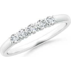 Floating Five Stone Bar-Set Diamond Wedding Band found on Bargain Bro India from Angara Jewelry for $1159.00